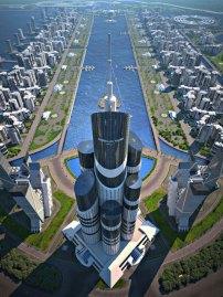 İnşaatının 2019'da bitmesi hedeflenen Azerbaycan Kulesi, 1050 metrelik yüksekliği ile dünyanın en yüksek binası unvanını alacak.