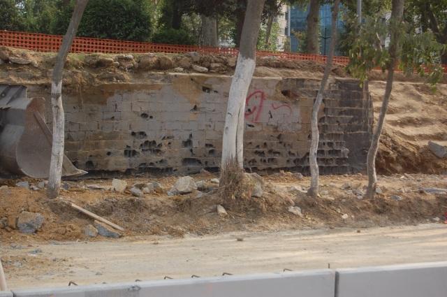 Çalışmalar sırasında bazı ağaçların köklerine de zarar verildi