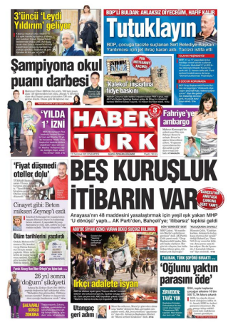HaberTürk'ün tepki çeken manşeti buydu.