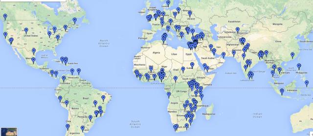 Bu harita, yalnızca 2013 yılında dünyada polisin göz yaşartıcı gaz kullandığı noktaları gösteriyor. [SİTEYE YAZININ SONUNDAKİ LİNKTEN ERİŞEBİLİRSİNİZ]