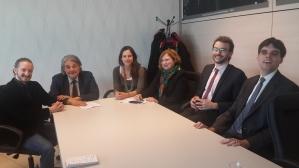 Soldan sağa: Clemens Lahner, Robert Sabata, Cosima Ouhioun, Barbara Spinelli, Alexandre Luc-Walton, Matthieu Juglar.